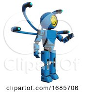 Cyborg Containing Round Head Yellow Happy Face And Light Chest Exoshielding And Prototype Exoplate Chest And Blue Eye Cam Cable Tentacles And Prototype Exoplate Legs Blue Interacting