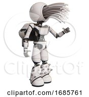 Droid Containing Round Fiber Optic Connectors Head And Light Chest Exoshielding And Ultralight Chest Exosuit And Rocket Pack And Light Leg Exoshielding And Spike Foot Mod White Interacting