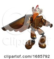 Bot Containing Bird Skull Head And Red Line Eyes And Chicken Design And Light Chest Exoshielding And Prototype Exoplate Chest And Pilots Wings Assembly And Light Leg Exoshielding Copper