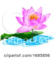 Vector Of Fresh Lotus Flower