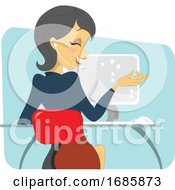 Poster, Art Print Of Dark Haired Women Professional On The Phone