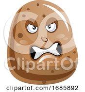 Potato Looks Very Angry Illustration