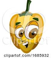 Cheerful Capsicum Illustration