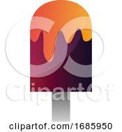 Purple Ice Cream With Orange Toping