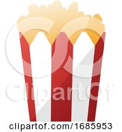 Illustration Of A Red And White Popcorn Bag