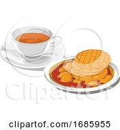 Poster, Art Print Of Teacup With Pancakes For Breakfast