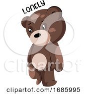 Lonely Brown Teddy Bear