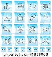 Poster, Art Print Of Website Icons And Buttons Illustration