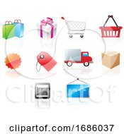 Poster, Art Print Of Website Icons Illustration