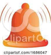 Orange Ringing Bell Vector Illustration On White Background
