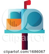 Poster, Art Print Of Colorful Letterbox With Letter Inside Simple Vector Illustration On A White Background
