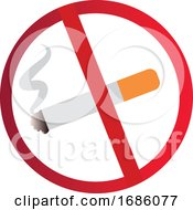 Poster, Art Print Of Vector Illustration Of A No Smoking Sign On A White Background