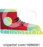 Red Converse Sneaker Vector Illustration On A White Background
