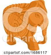 Poster, Art Print Of Vector Of Elephant Statue