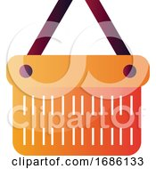 Orange Bucket With Purple Handlers Vector Illustration On A White Background