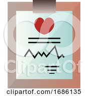 Medical Record On A Clipboard Vector Illustration On A White Background