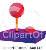 Multicolor Joystick Simple Vector Illustration On A White Background