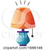 Colorful Table Lamp Vector Illustration On A White Background
