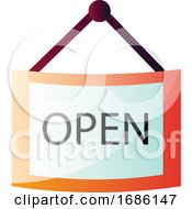 Store Open Paper Sign Vector Illustration On A White Background