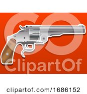 Gun Handgun Pistol Or Revolver Illustration