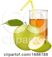 Vector Of Apple Fruit And Juice