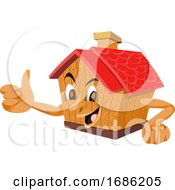 Poster, Art Print Of Wooden House With A Face Illustration