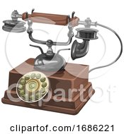 Vintage Telephone by Morphart Creations #COLLC1686221-0196