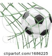 Soccer Ball on Net by Morphart Creations #COLLC1686225-0196