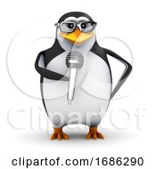 3d Penguin Student Stand Up Comedian