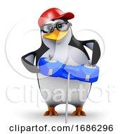 Poster, Art Print Of 3d Penguin Gamer