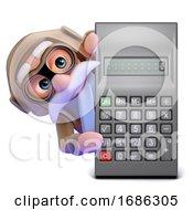 3d Airline Pilot Behind Calculator