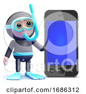 3d Snorkel Diver By Smartphone