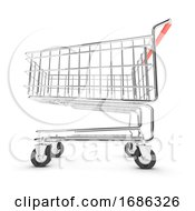 3d Shopping Trolley Lower View