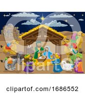 Christmas Nativity Scene Cartoon