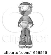 Sketch Ninja Warrior Man Giving Football To You