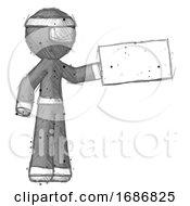 Sketch Ninja Warrior Man Holding Large Envelope