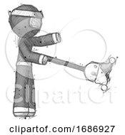 Poster, Art Print Of Sketch Ninja Warrior Man Holding Jesterstaff - I Dub Thee Foolish Concept