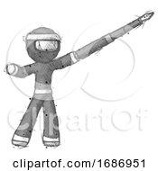Sketch Ninja Warrior Man Pen Is Mightier Than The Sword Calligraphy Pose