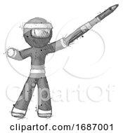 Sketch Ninja Warrior Man Demonstrating That Indeed The Pen Is Mightier