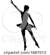 Poster, Art Print Of Ballet Dancer Silhouette Set
