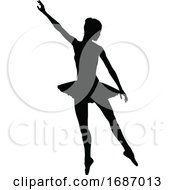 Ballet Dancer Silhouette Set