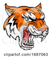 Tiger Animal Cartoon Mascot by AtStockIllustration
