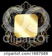 Elegant Gold Frame Background