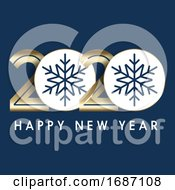 Happy New Year Background With Decorative Numbers