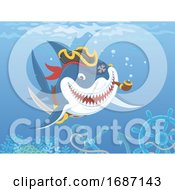 Pirate Shark With A Pipe