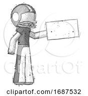 Sketch Football Player Man Holding Large Envelope