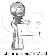 Sketch Football Player Man Presenting Large Envelope