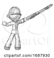 Sketch Firefighter Fireman Man Pen Is Mightier Than The Sword Calligraphy Pose
