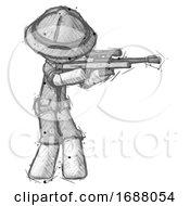Sketch Explorer Ranger Man Shooting Sniper Rifle