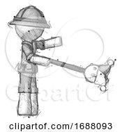Poster, Art Print Of Sketch Explorer Ranger Man Holding Jesterstaff - I Dub Thee Foolish Concept
